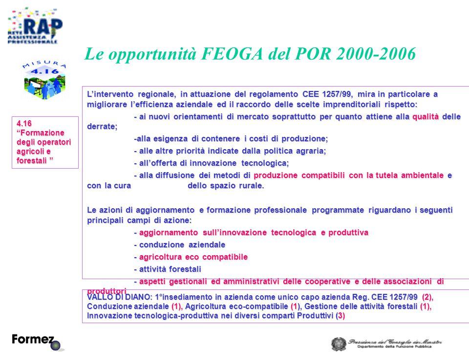 L'intervento regionale, in attuazione del regolamento CEE 1257/99, mira in particolare a migliorare l'efficienza aziendale ed il raccordo delle scelte imprenditoriali rispetto: - ai nuovi orientamenti di mercato soprattutto per quanto attiene alla qualità delle derrate; -alla esigenza di contenere i costi di produzione; - alle altre priorità indicate dalla politica agraria; - all'offerta di innovazione tecnologica; - alla diffusione dei metodi di produzione compatibili con la tutela ambientale e con la cura dello spazio rurale.