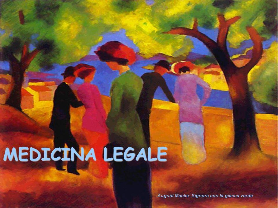 MEDICINA LEGALE August Macke: Signora con la giacca verde