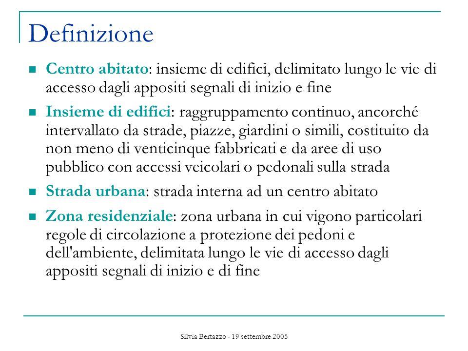 Silvia Bertazzo - 19 settembre 2005 Inquinamento acustico prodotto dai veicoli: art.