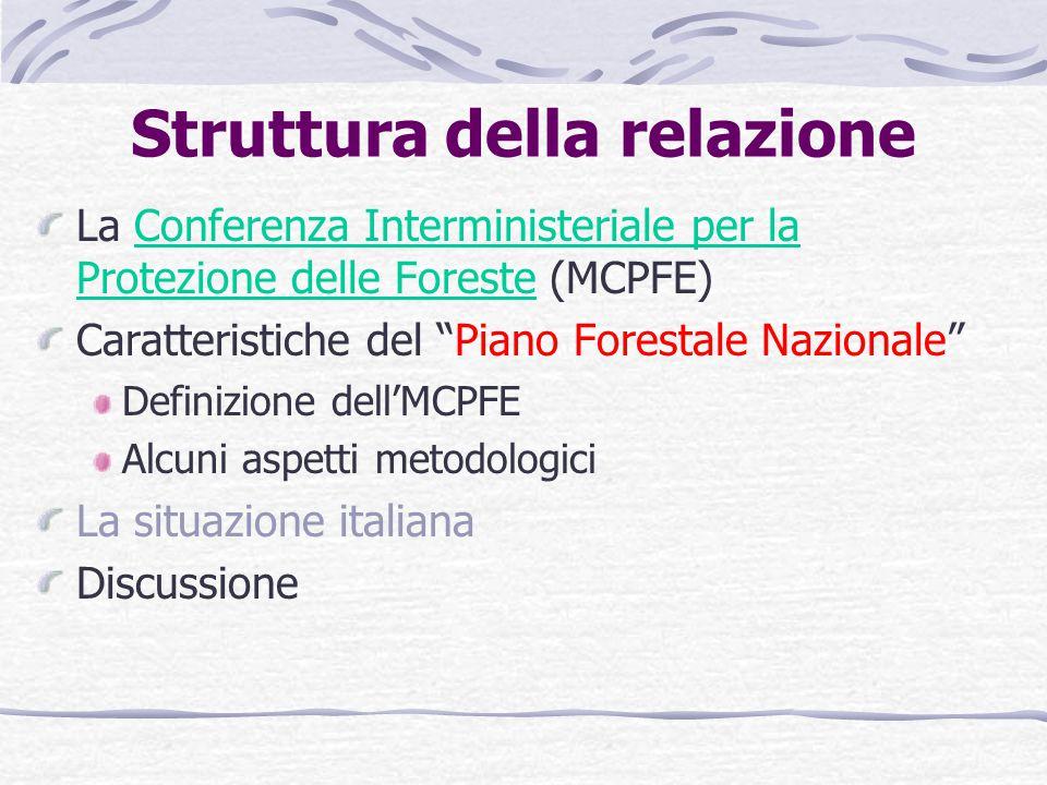 La regionalizzazione delle competenze forestali pone dei vincoli alla redazione di un PFN.