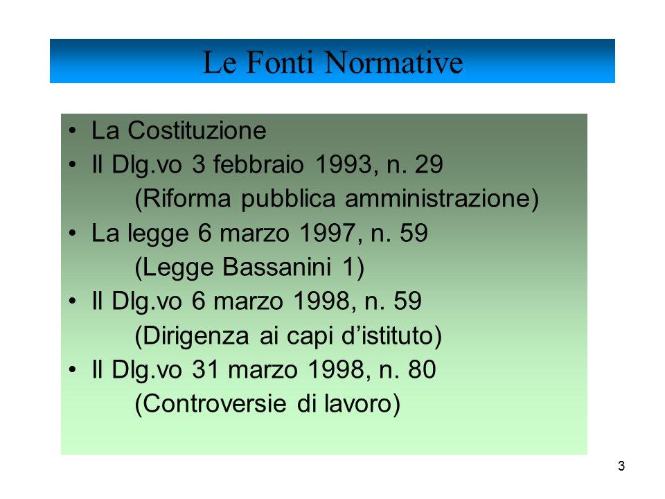 4 Il Dlg.vo 31 marzo 1998, n.112 (Funzioni e compiti alle regioni) Il DPR 2 marzo 1998, n.