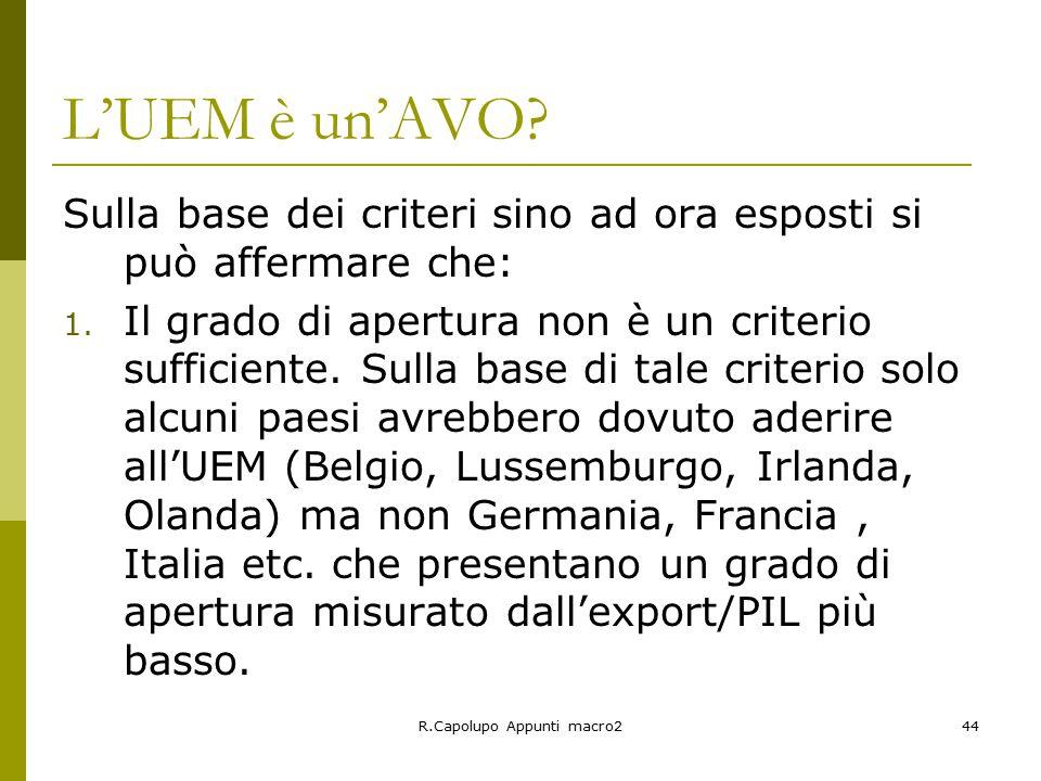 R.Capolupo Appunti macro244 L'UEM è un'AVO.