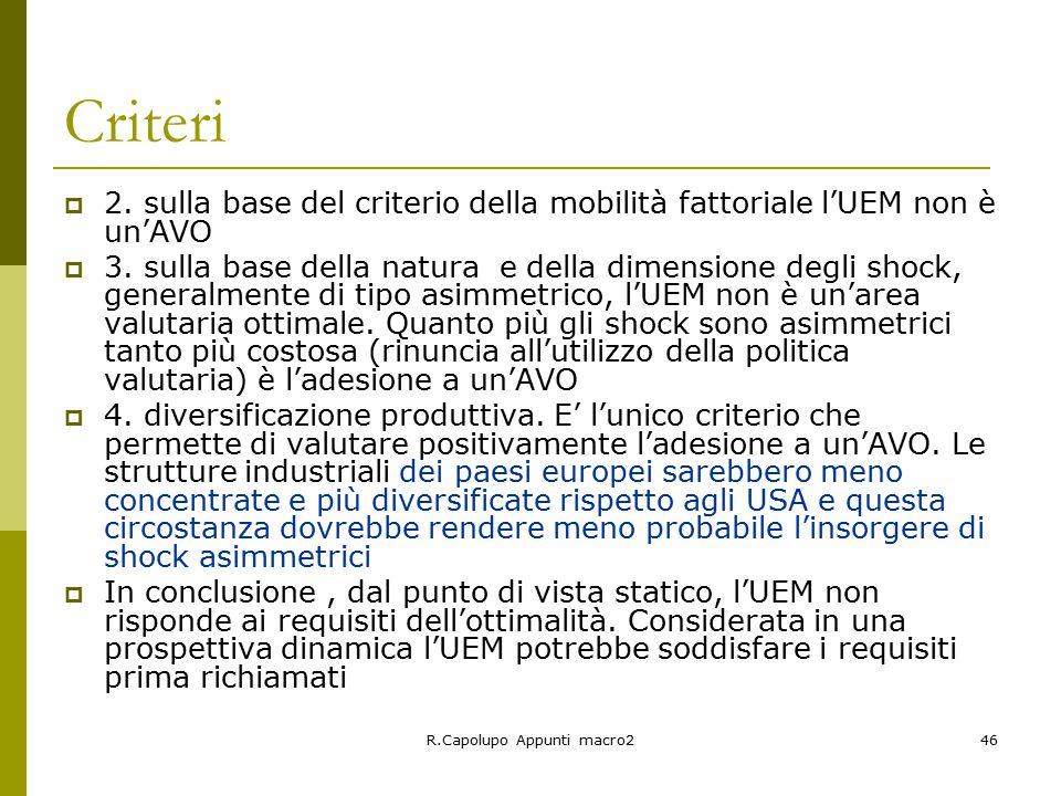 R.Capolupo Appunti macro246 Criteri  2.