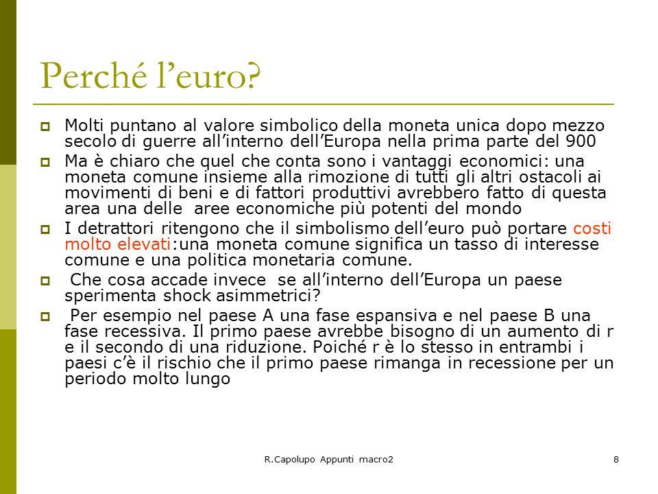 R.Capolupo Appunti macro28 Perché l'euro.