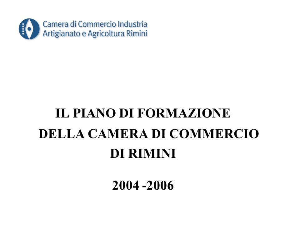 IL PIANO DI FORMAZIONE DELLA CAMERA DI COMMERCIO DI RIMINI 2004 -2006