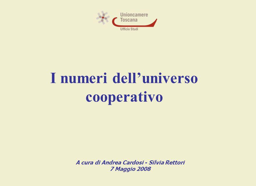 I numeri dell'universo cooperativo A cura di Andrea Cardosi - Silvia Rettori 7 Maggio 2008