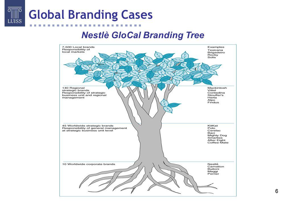 7 COCA COLA Posizionamento globale costruito con: differenti associazioni secondarie all'immagine modifiche al gusto e alla confezione adattamento delle campagne pubblicitarie Brand Geocentrico