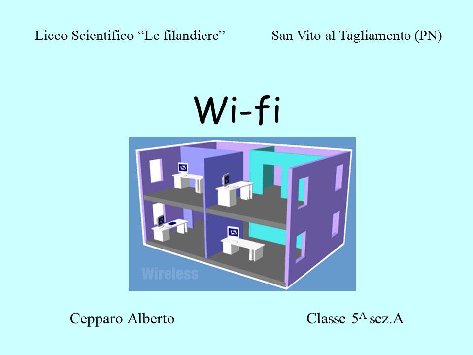 Wi-fi Cepparo AlbertoClasse 5 A sez.A Liceo Scientifico Le filandiere San Vito al Tagliamento (PN)