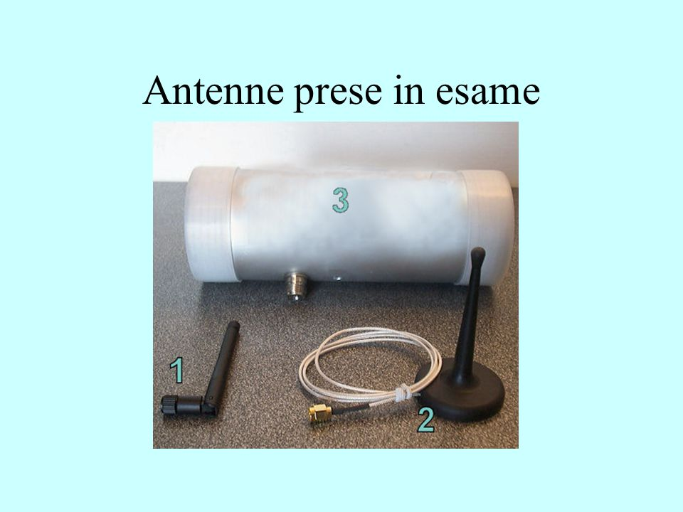 Antenne prese in esame