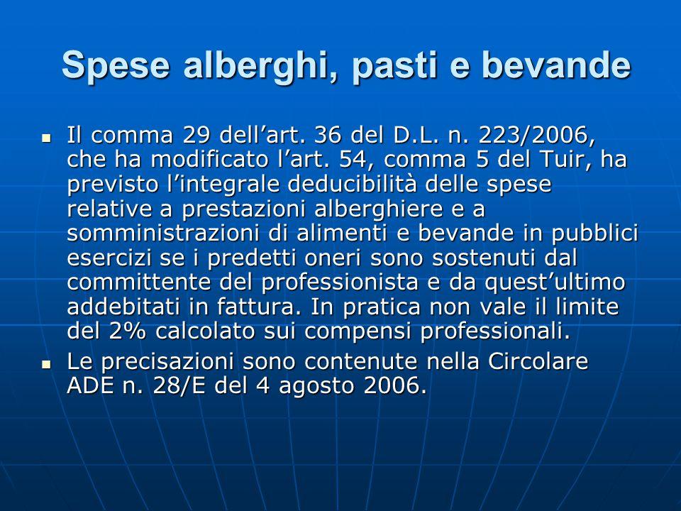 Partecipazione a convegni: Detrazione IVA su spese alberghiere Partecipazione a convegni: Detrazione IVA su spese alberghiere La Finanziaria aveva modificato il comma 1, lett.