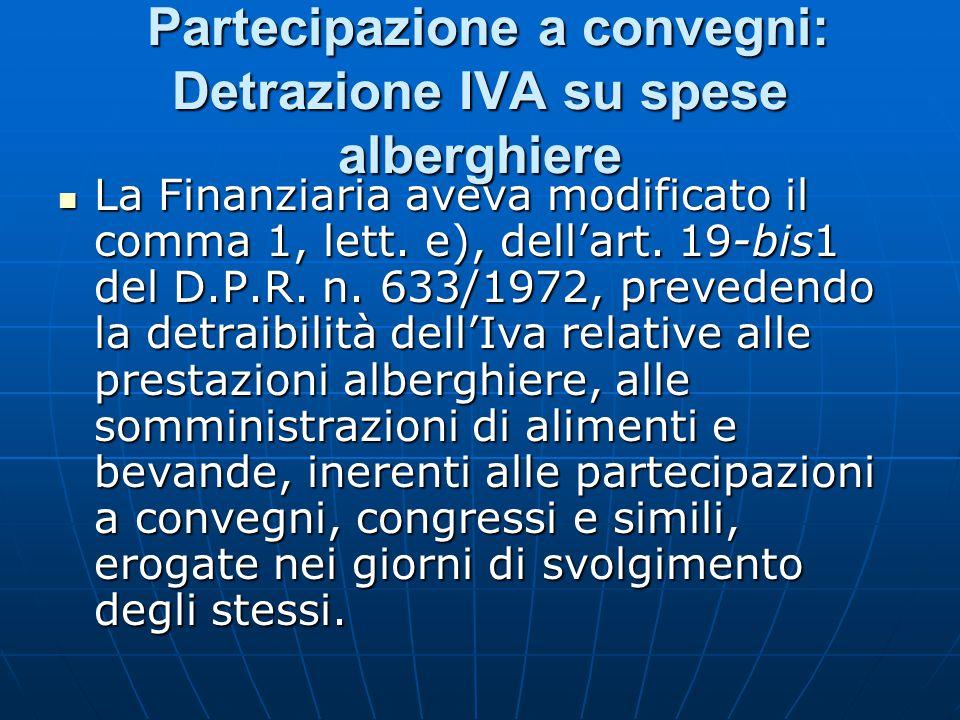IVA sulle prestazioni alberghiere (D.L.n.
