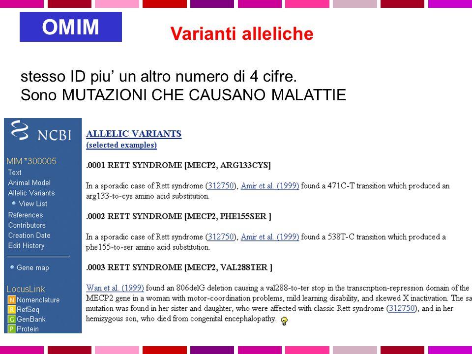 Varianti alleliche stesso ID piu' un altro numero di 4 cifre.