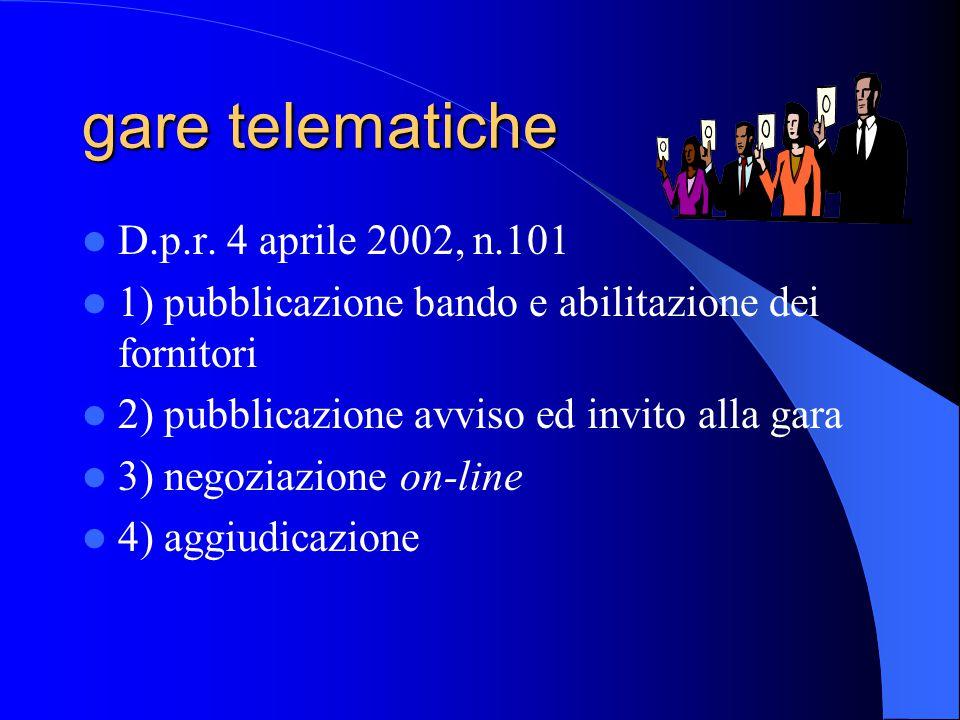 gare telematiche D.p.r.