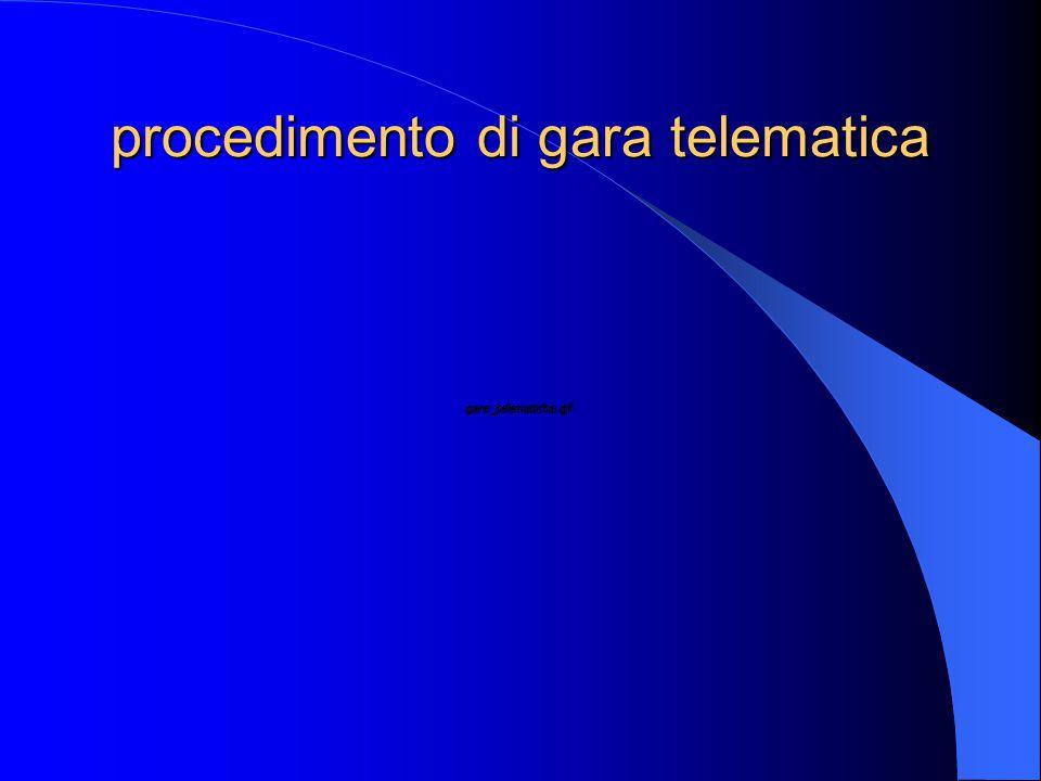 procedimento di gara telematica