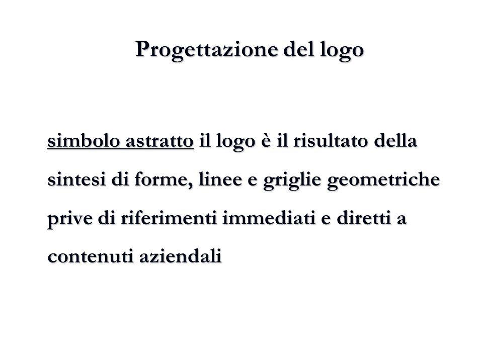 Progettazione del logo simbolo astratto il logo è il risultato della sintesi di forme, linee e griglie geometriche prive di riferimenti immediati e di