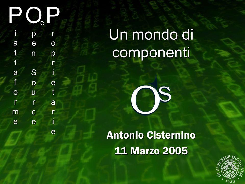 PiattaformePiattaformePiattaformePiattaforme Antonio Cisternino 11 Marzo 2005 OpenSourceOpenSourceOpenSourceOpenSource e ProprietarieProprietariePropr
