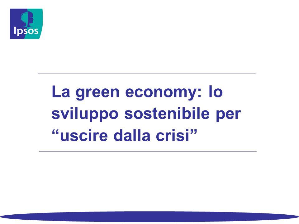 La green economy: lo sviluppo sostenibile per uscire dalla crisi