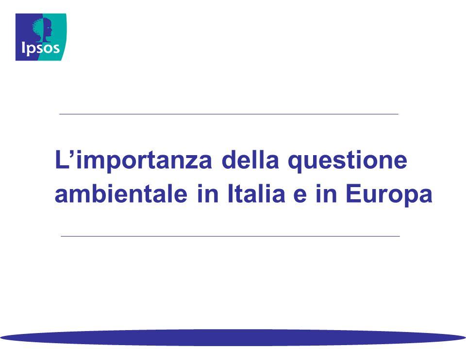 3 L'ambiente e gli italiani Italia ed Europa – le diverse interpretazioni del concetto di ambiente A cosa pensa principalmente se si parla di ambiente .