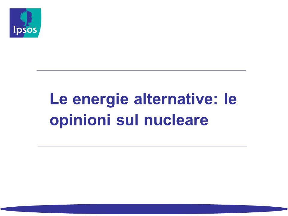 Le energie alternative: le opinioni sul nucleare