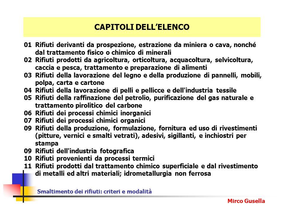Smaltimento dei rifiuti: criteri e modalità Mirco Gusella Presentazione MUD entro il 30 aprile (solo per i rifiuti da lavorazioni industriali ed artigiane.