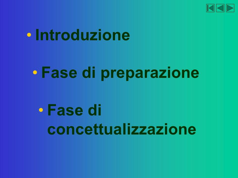 Introduzione Fase di preparazione Fase di concettualizzazione