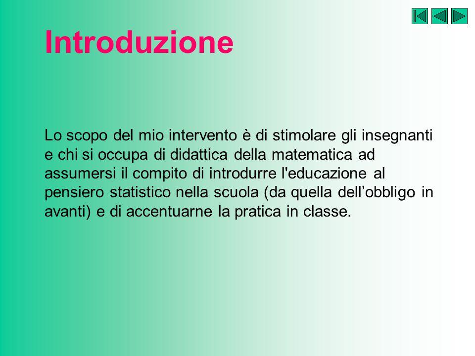 L aspetto descrittivo: proposte didattiche Problema 2: media aritmetica o mediana.