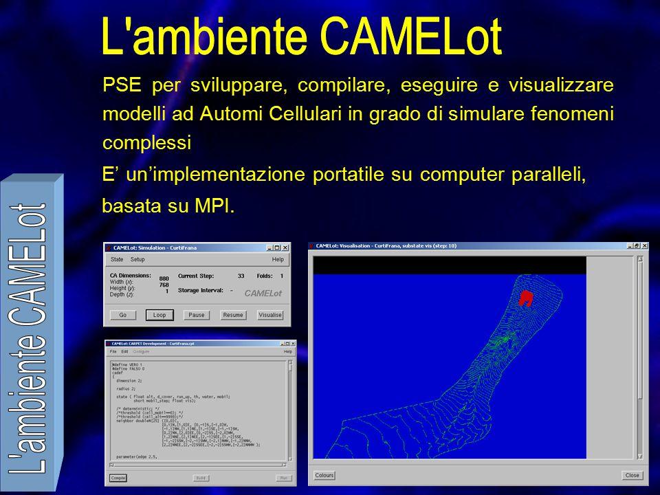 PSE per sviluppare, compilare, eseguire e visualizzare modelli ad Automi Cellulari in grado di simulare fenomeni complessi E' un'implementazione portatile su computer paralleli, basata su MPI.