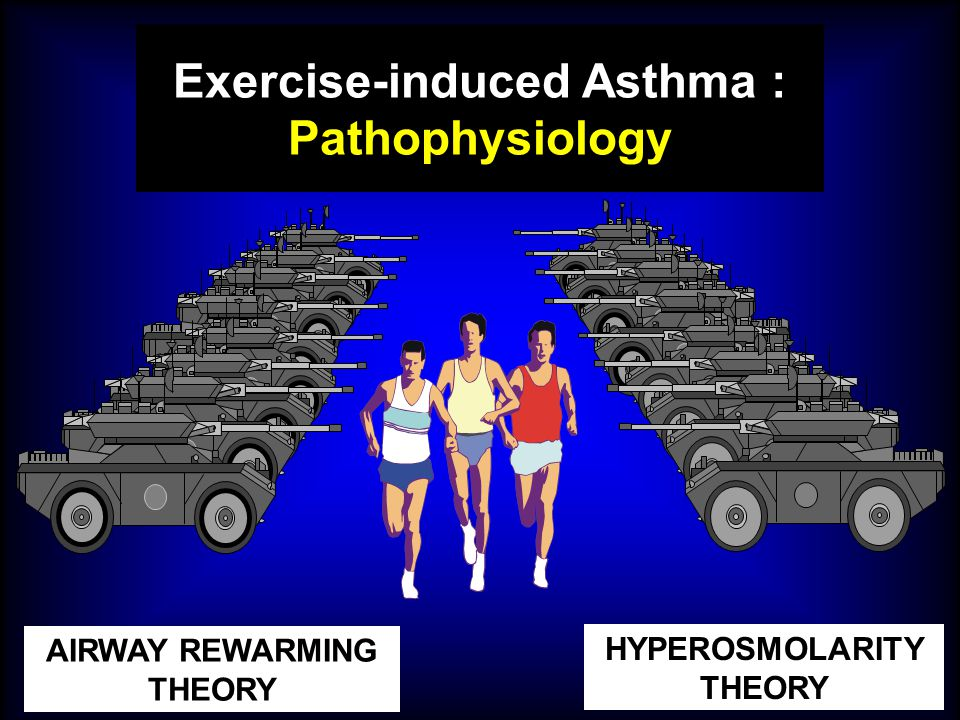 HYPEROSMOLARITY THEORY AIRWAY REWARMING THEORY Exercise-induced Asthma : Pathophysiology