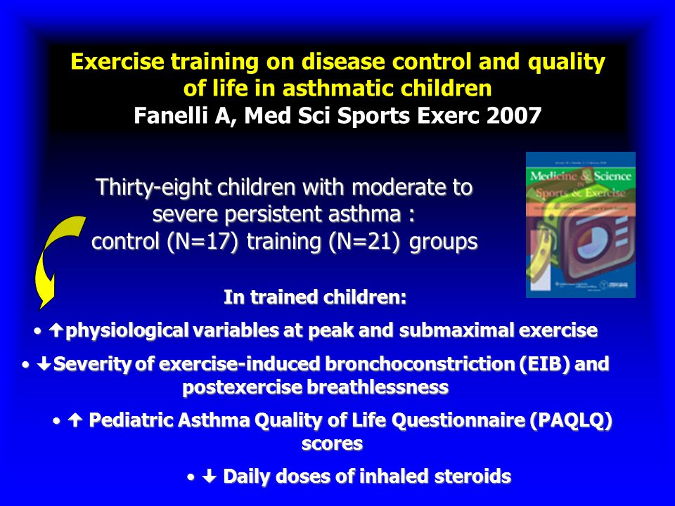 579 ch.<12 yrs playing baseball or soccer Parents reported asthma % children with asthma 15 – 10 – 5 – 0 14% 80/579 A PILOT SURVEY OF ß 2 -AGONIST INHALER AVAILABILITY FOR CHILDREN WITH ASTHMA DURING ORGANIZED SPORTING EVENTS Cardona Ann.