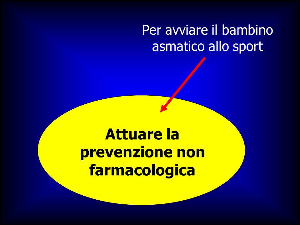 Per avviare il bambino asmatico allo sport Attuare la prevenzione non farmacologica