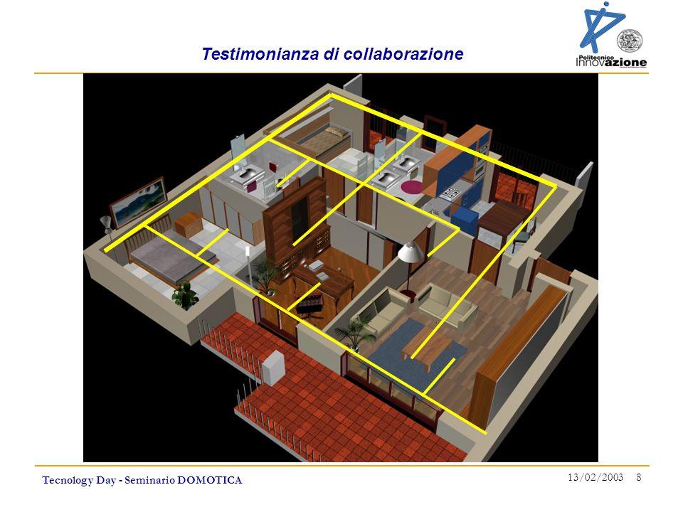 Testimonianza di collaborazione Tecnology Day - Seminario DOMOTICA 13/02/2003 8
