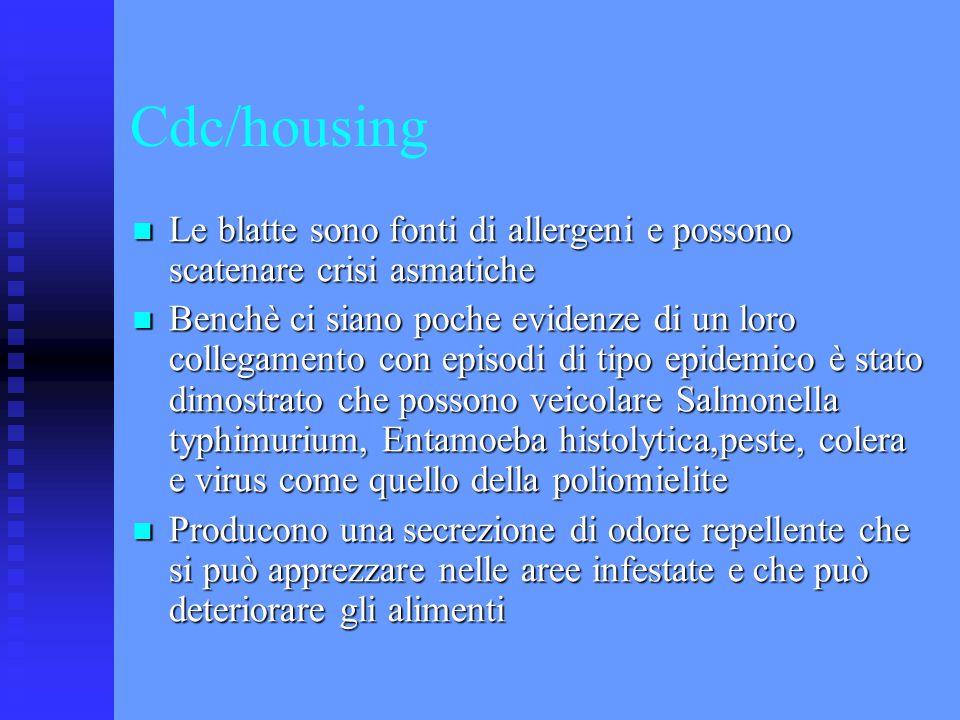 Cdc/housing Le blatte sono fonti di allergeni e possono scatenare crisi asmatiche Le blatte sono fonti di allergeni e possono scatenare crisi asmatich