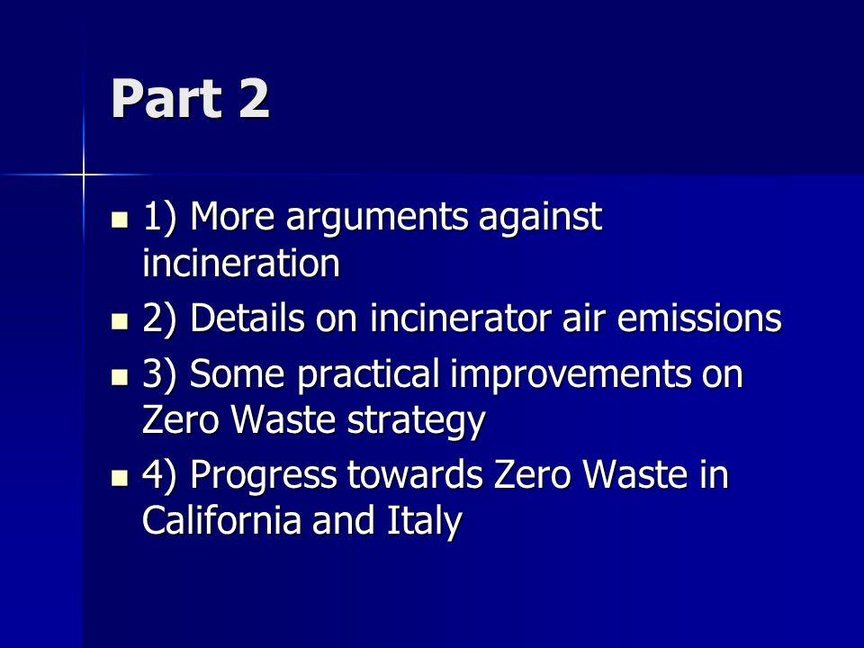 L' incinerimento e' uno spreco di energia L' incinerimento e' uno spreco di energia