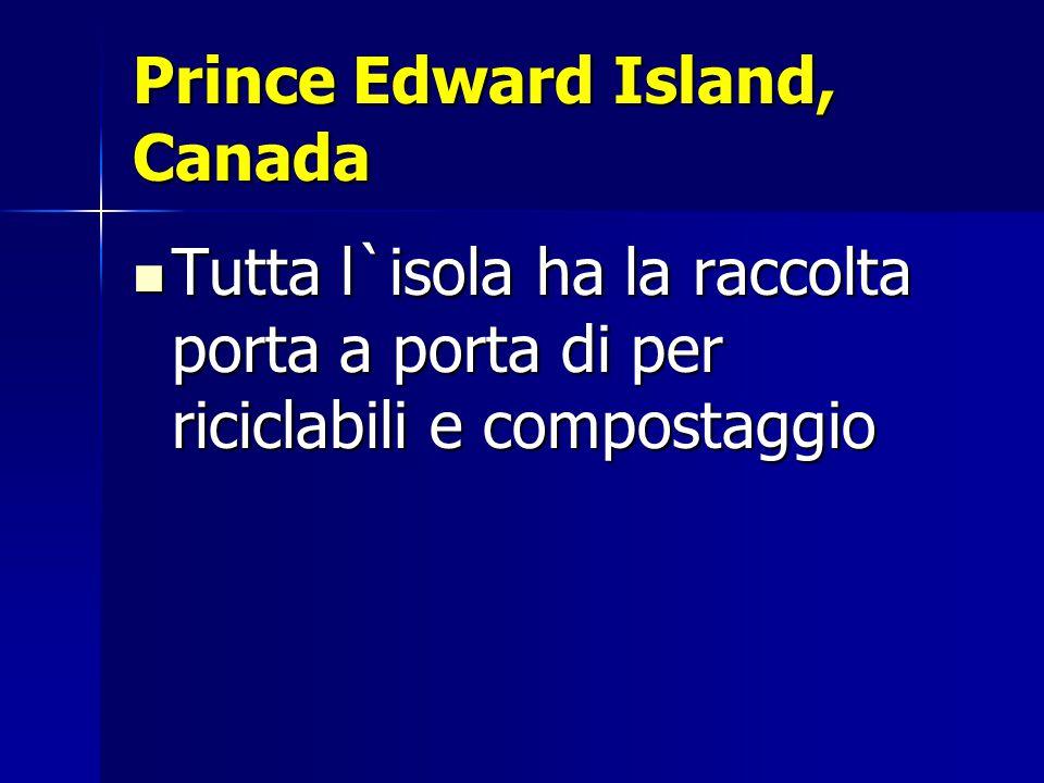 Prince Edward Island, Canada Tutta l`isola ha la raccolta porta a porta di per riciclabili e compostaggio Tutta l`isola ha la raccolta porta a porta di per riciclabili e compostaggio