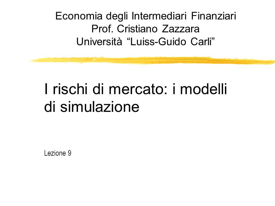 """I rischi di mercato: i modelli di simulazione Lezione 9 Economia degli Intermediari Finanziari Prof. Cristiano Zazzara Università """"Luiss-Guido Carli"""""""