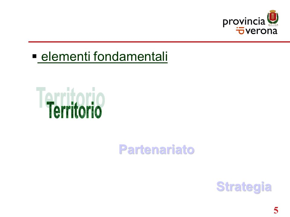 5  elementi fondamentaliPartenariato Strategia
