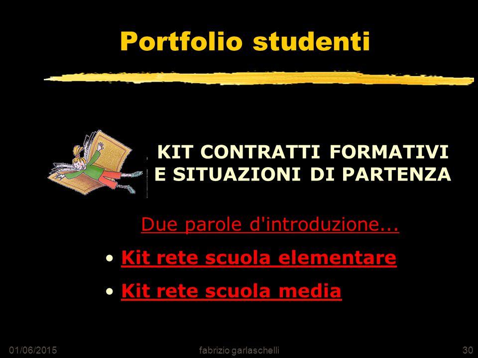 01/06/2015fabrizio garlaschelli30 Portfolio studenti Due parole d introduzione...