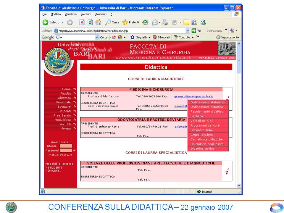 INTERAZIONE DOCENTE-STUDENTE TRAMITE LA PAGINA WEB DIDATTICA–IN–LINEA (favorisce l'interazione docente-studente con le potenzialità di internet) CLICCARE QUI