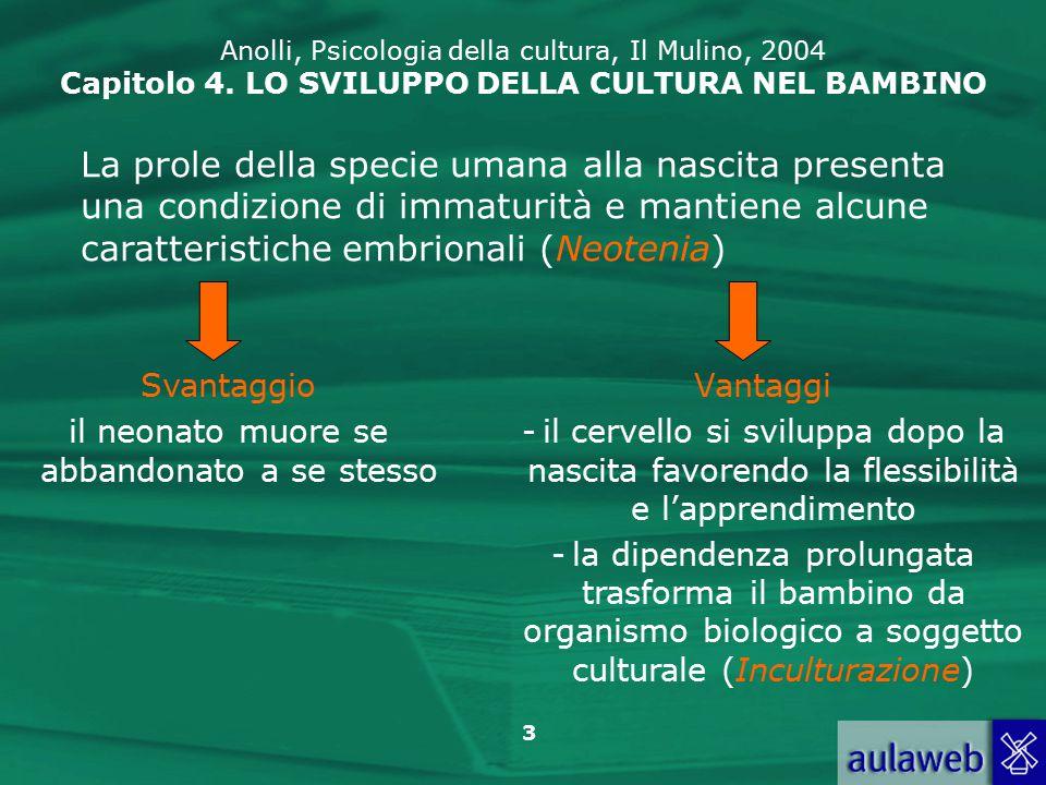 24 Anolli, Psicologia della cultura, Il Mulino, 2004 Capitolo 4.