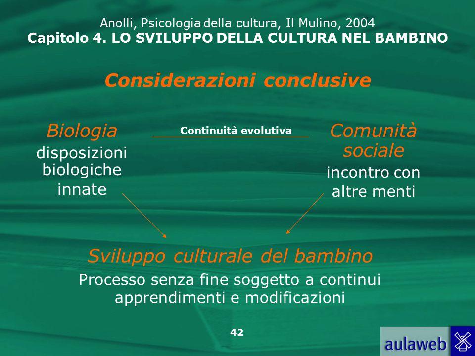 42 Anolli, Psicologia della cultura, Il Mulino, 2004 Capitolo 4.