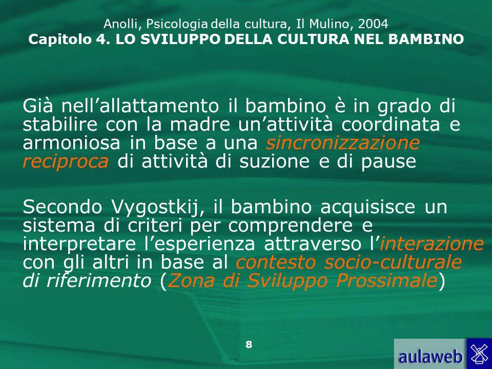 39 Anolli, Psicologia della cultura, Il Mulino, 2004 Capitolo 4.