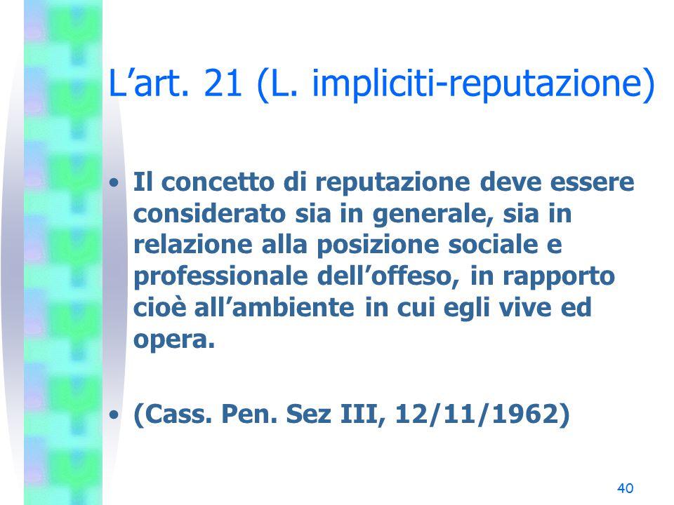 40 L'art.21 (L.