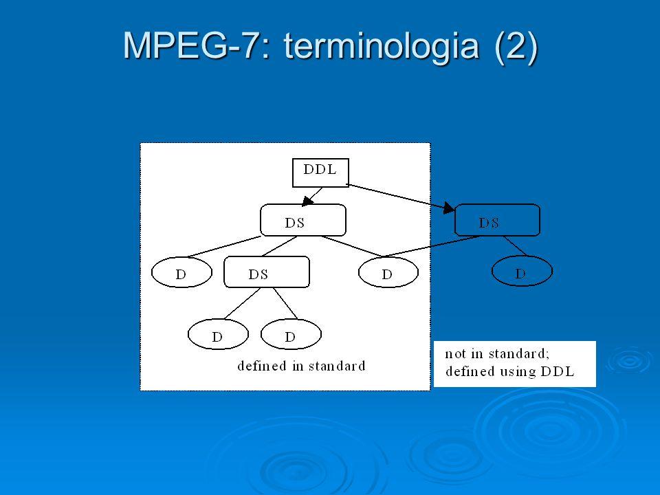 MPEG-7: terminologia (2)