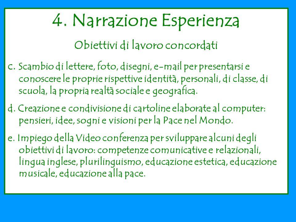 4.Narrazione Esperienza Obiettivi di lavoro concordati c.