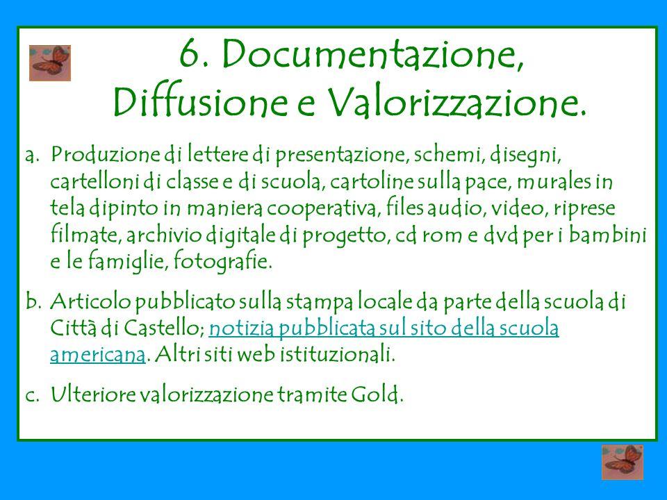 6.Documentazione, Diffusione e Valorizzazione.