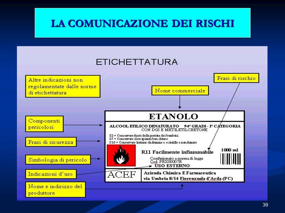 39 LA COMUNICAZIONE DEI RISCHI