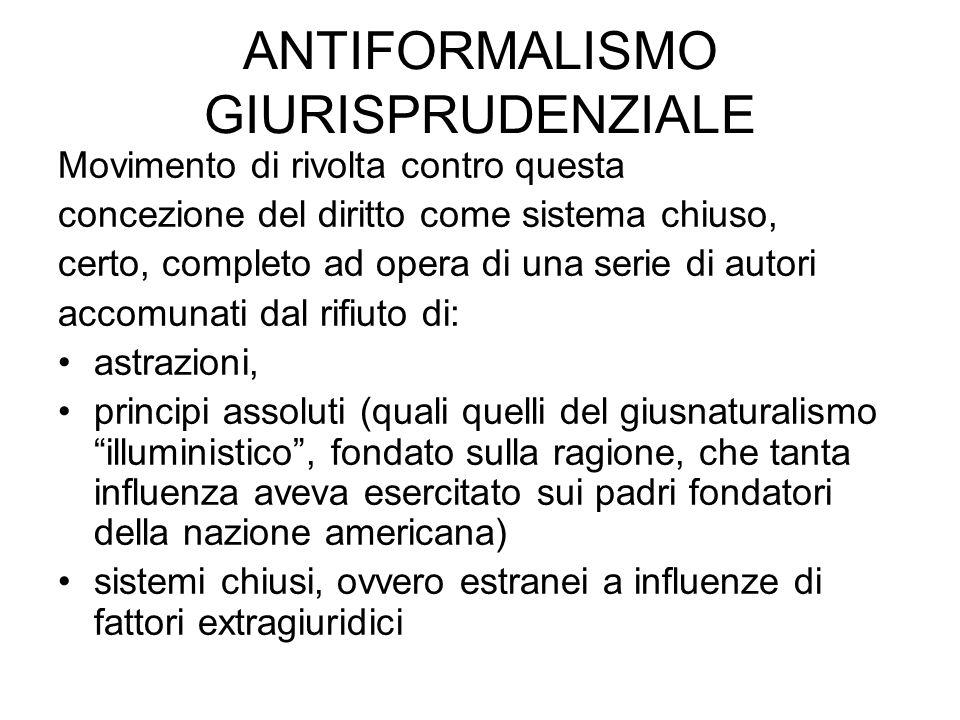 Conseguenze dell'influenza della giurisprudenza sociologica: IL REALISMO GIURIDICO J.
