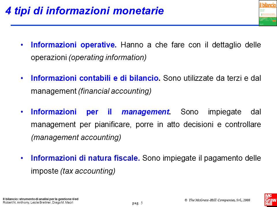 pag.6 Il bilancio: strumento di analisi per la gestione 4/ed Robert N.