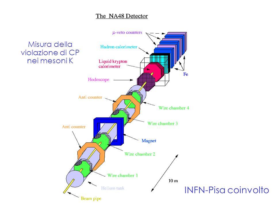 Fabrizio.Palla@pi.infn.it INFN-Pisa coinvolto Misura della violazione di CP nei mesoni K