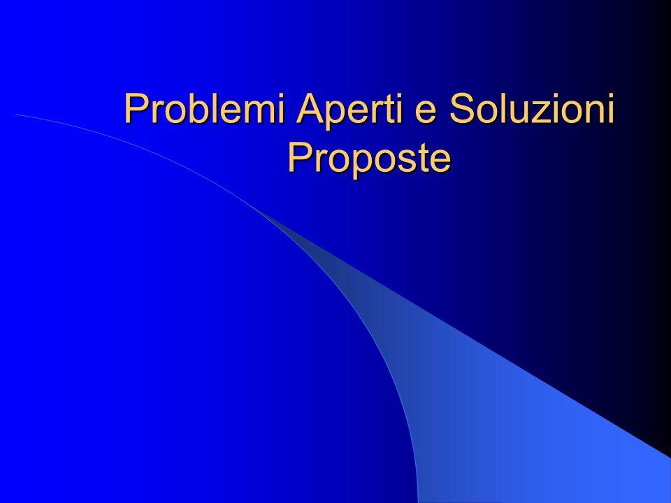 Problemi Aperti e Soluzioni Proposte